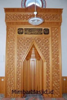 Gambar Mihrab Masjid Minimalis Jati