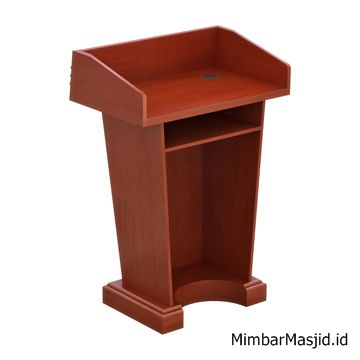 Mimbar Podium Minimalis Jati