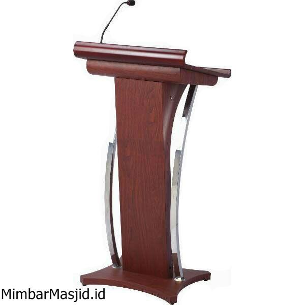 Mimbar Podium Minimalis Stainless Lengkung