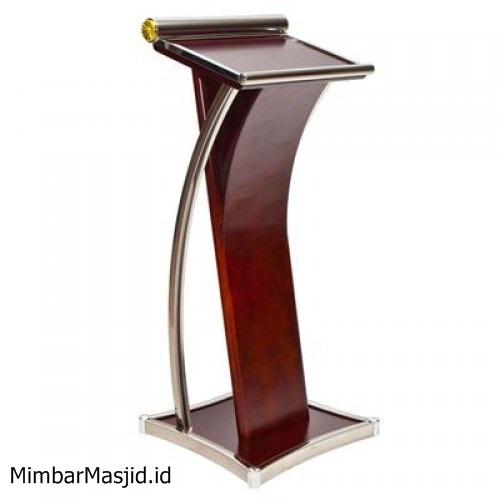 Mimbar Podium Minimalis Stainless Murah